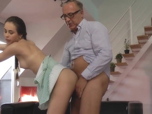 Euro Teen Fucks Old Man