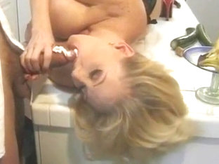 Kayla Kleevage - Classic Hardcore Sex Scene In Kitchen (solo With Cucumber In Intro) - Edited