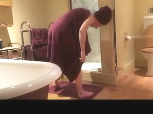 Husband Films His Wife Drying Her Body
