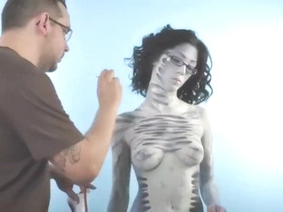 Naked On Stage-005 Body Paint