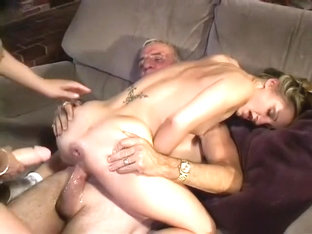 A Naughty Couple Of Swingers Talk A Tight Teen Into Some Rough Sex