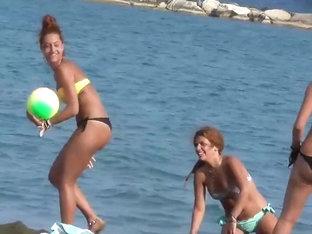 Bubbly Butt Cheeks Falling Out Of Bikini