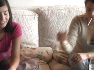 Lesbian Petting By Real Punk Teens