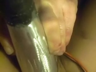My Wife Penetrating Her Darksome Fur Pie With Thick Plastic Dildos