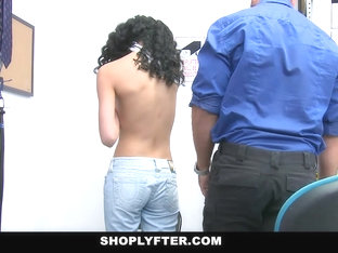 Shoplyfter - Tiny Cute Teen Gets Fucked Rough For Stealing