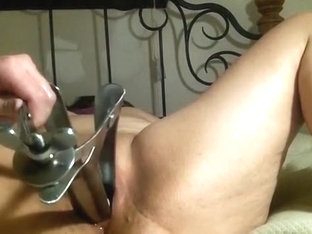 Fluffy With Freak Speculum And Golf Balls In Pussy