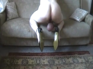 Cross Dressing  Pumped Cock And Balls