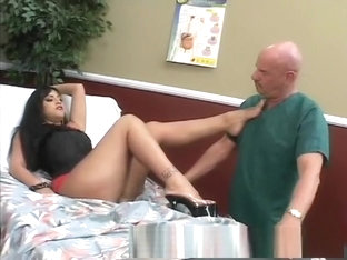 Sexy Mistress Ice La Fox Dominates The Hospital Janitor