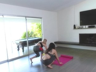 Megan Sage, Nina North, Arya Faye In Yoga