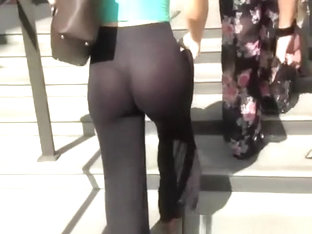 See Through Tight Black Pants