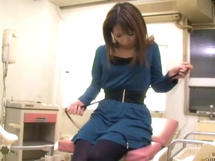 Delicious Jap Crammed Hard In Voyeur Medical Fetish Video