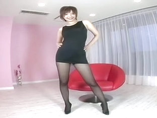 Cute Jap Milf Shows Her Legs And Butt Upskirt Style