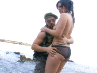 Curvy Leather Babe Fucked By The Shore