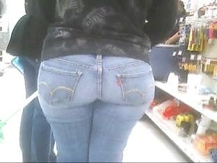 Walmart Tight Jeans Ass Booty