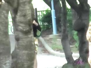 Tantalizing Long-legged Oriental Woman Flashes Her Thong During Sharking Scene