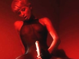 Blond Masturbating With Her Strap On