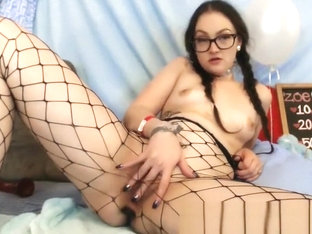 Goth Tattooed Nerd With Hairy Pussy