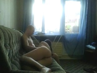 Young Russian Couple Make A Sextape On The Sofa