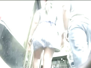 A Blonde And A Brunette Discovered In The City In An Upskirt Video