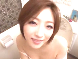 Hottest Japanese Chick Ai Haneda In Incredible Blowjob/fera, Stockings/pansuto Jav Scene