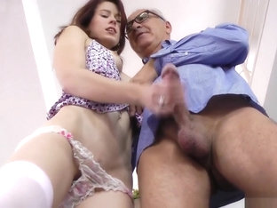 Teen Rides And Cocksucks Old Man At Home