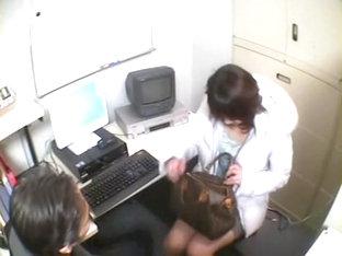 Busty Jap Fucks A Guy In Spy Cam Office Sex Video