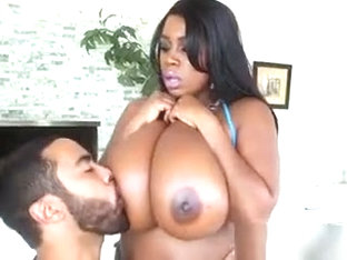 Hot Ebony Babe Maserati Has Her Tits Worshipped