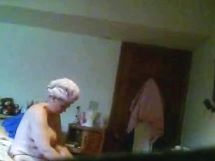 Old Chubby Woman Caught Changing By The Hidden Camera
