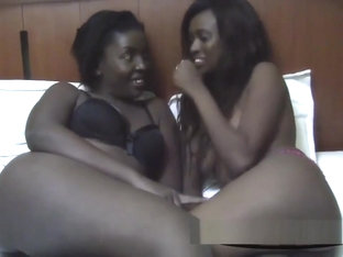 Ebony Lesbian African Sluts Love Showing Off Their Love.