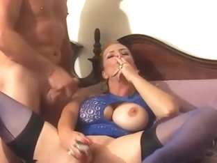 Mandy Smokes And Takes A Load In The Mouth