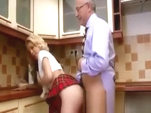 The Kitchen Is A Great Place To Fuck This Teen Slut