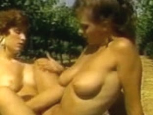 Two Hawt Honeys With Admirable Racks In Lesbo Act Outdoors