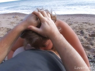 Blonde Beauty Loves Hard Cock At The Beach