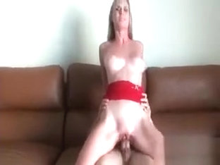 Blonde Nympho Fucks Penis On Couch