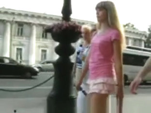 Teen Upskirt On Street