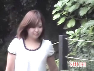 Sharking Of A Lovely Japanese Girl In A Public Park