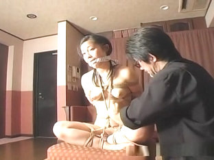 Cute Asian Chick Tied Up With Not Knowing What To Do
