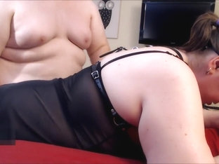 Girlfriend's Multiple Orgasms During First Time On Camera With Daddy