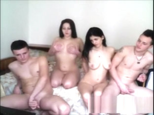 Teen Foursome Play First Time