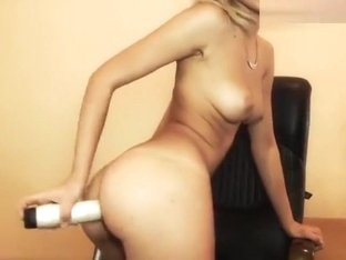Blonde Abeyyleex Plays With A Dildo