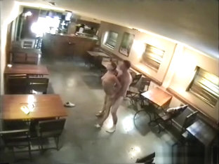 Security Cam Catches Couple In Bar