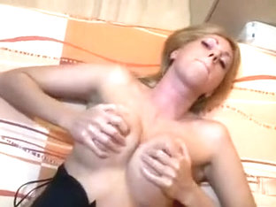 Cum On Tits For Blonde MILF Babe In Heels After Getting Nailed Pov