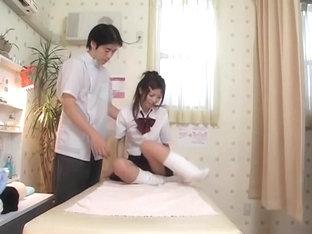 Skinny Japanese Fucks To Orgasm In Voyeur Massage Video