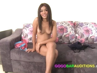 Gorgeous Thai Teen Uses Her Pussy To Get Hired - Gogobarauditions