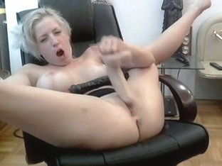 Older Toying Herself On Webcam