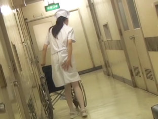 Nurse With Wheelchair Got Her Bottom Sharked From Behind