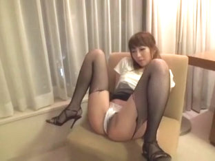 Best Japanese Chick Rin Misuzu In Amazing Fishnet, Couple Jav Clip