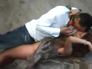 What A Fucking Slut !!! Voyeur Tapes A Partygirl Having Sex On A Construction Site !!!