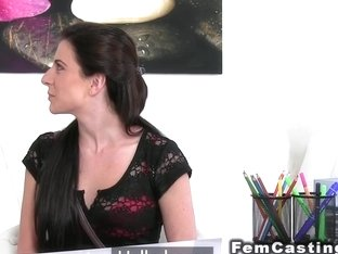 Agent With Big Strap On Fucks Babe