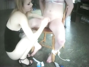 Femdom Amateur Couple Cbt, Fucking And Tease And Denial With Tied Up Slave
